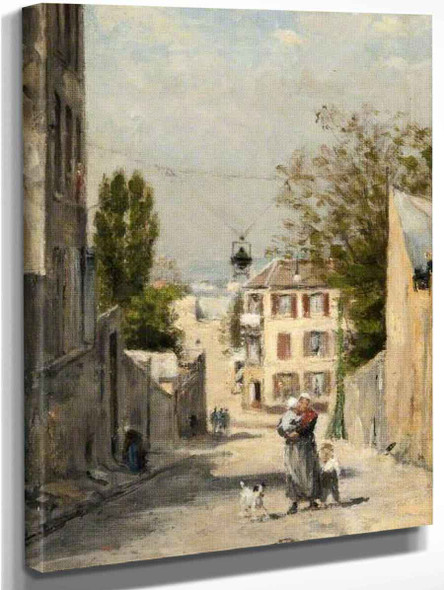 The Rue De Norvins, Montmartre By Stanislas Lepine