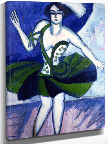 The Russian Dancer Mela By Ernst Ludwig Kirchner By Ernst Ludwig Kirchner