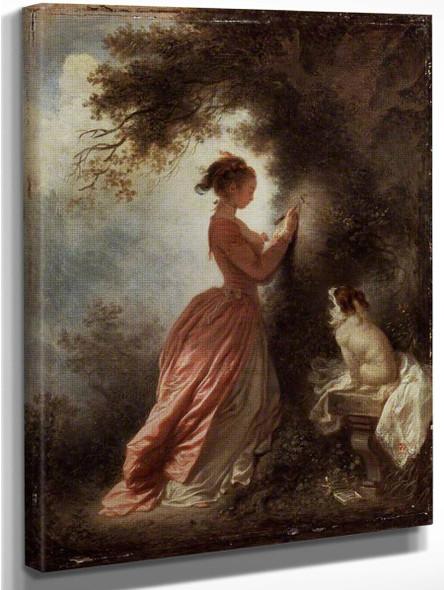 The Souvenir By Jean Honore Fragonard
