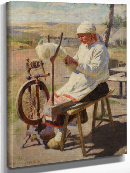 The Spinner By Sergei Arsenevich Vinogradov Russian 1869 1938