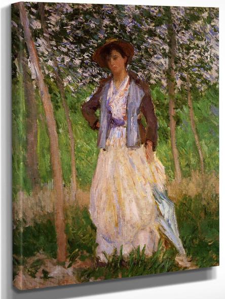 The Stroller  By Claude Oscar Monet