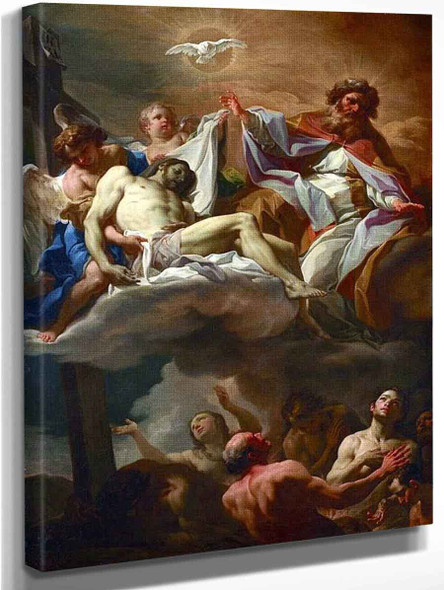 The Trinity With Souls In Purgatory By Corrado Giaquinto By Corrado Giaquinto