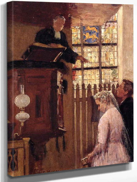 The Wedding  By Gari Melchers