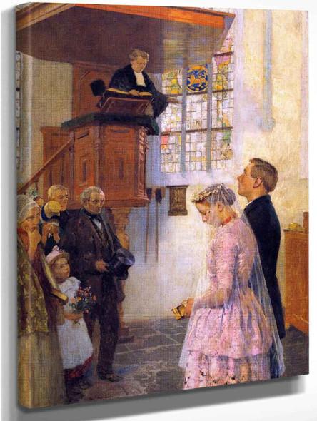 The Wedding By Gari Melchers