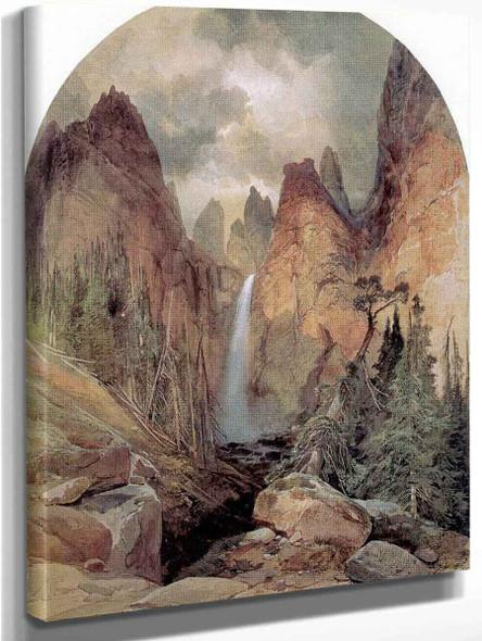 Tower Falls By Thomas Moran