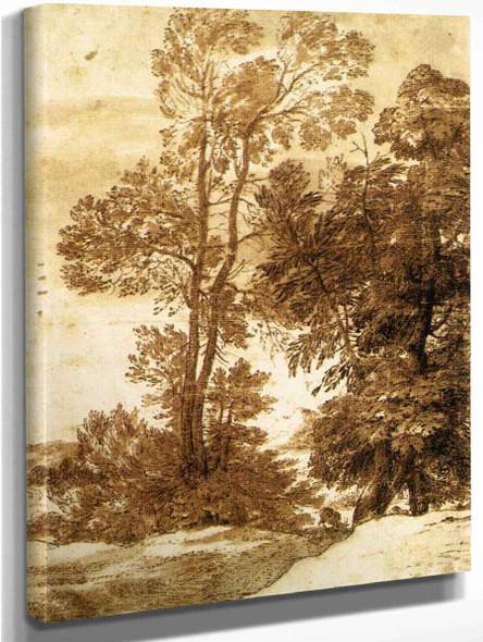 Trees By Claude Lorrain By Claude Lorrain