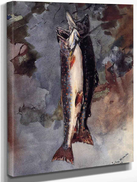 Two Trout By Winslow Homer