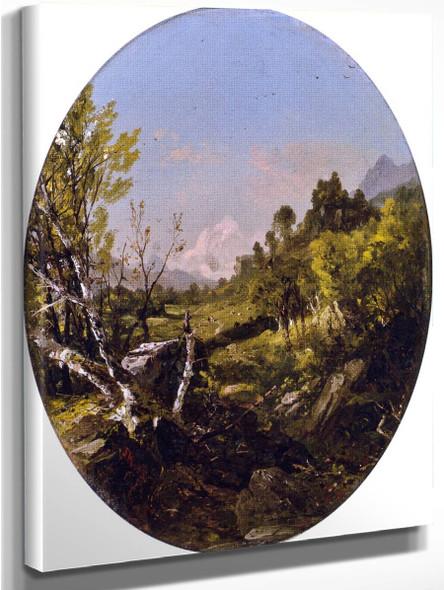 Valley Landscape, Trenton Falls, Ny By John Frederick Kensett By John Frederick Kensett