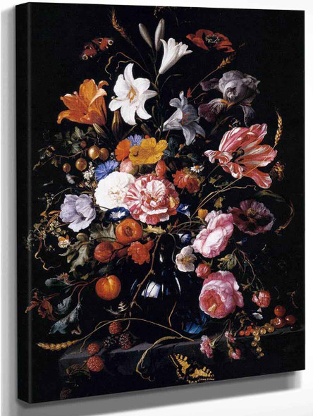 Vase With Flowers By Jan Davidszoon De Heem By Jan Davidszoon De Heem