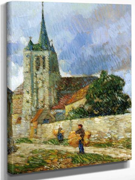Village Scene, Breton By Frederick Childe Hassam