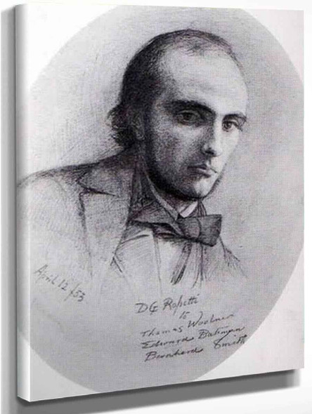 William Michael Rossetti By Dante Gabriel Rossetti