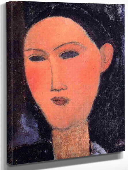 Woman's Head3 By Amedeo Modigliani Art Reproduction