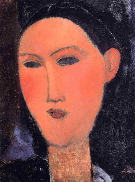 Woman's Head3 By Amedeo Modigliani