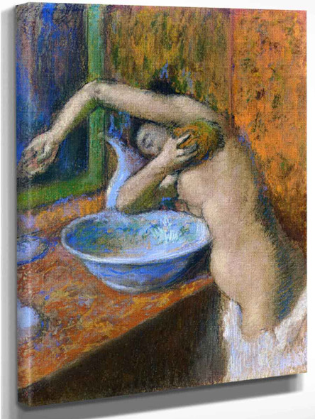 Woman At Her Toilette6 By Edgar Degas