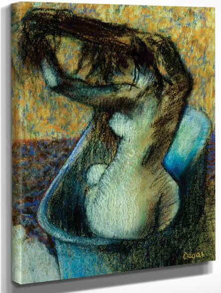 Woman Bathing By Edgar Degas