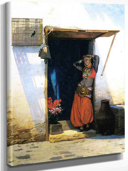 Woman From Cairo At Her Door By Jean Leon Gerome