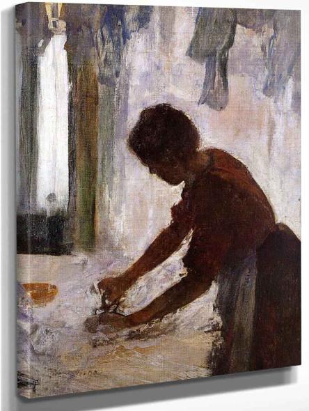 Woman Ironing3 By Edgar Degas