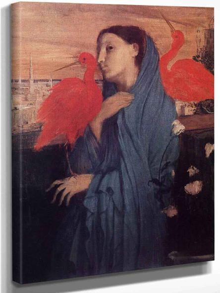 Woman On A Terrace By Edgar Degas