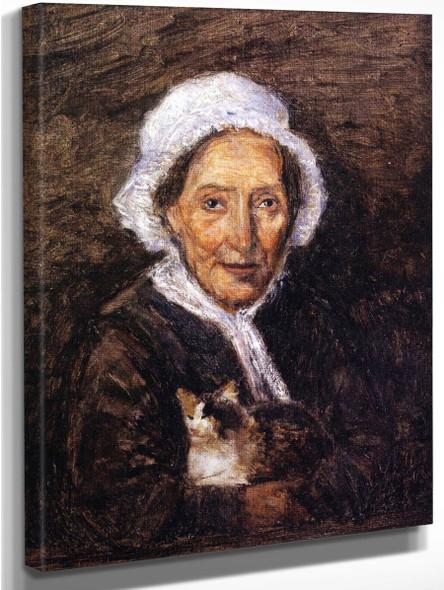 Woman With Cat By Stanislas Lepine