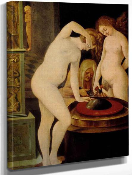 Women's Bath With A Mirror By Hans Baldung Grien Art Reproduction