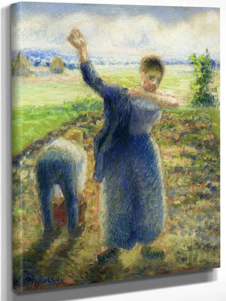 Workers In The Fields By Camille Pissarro