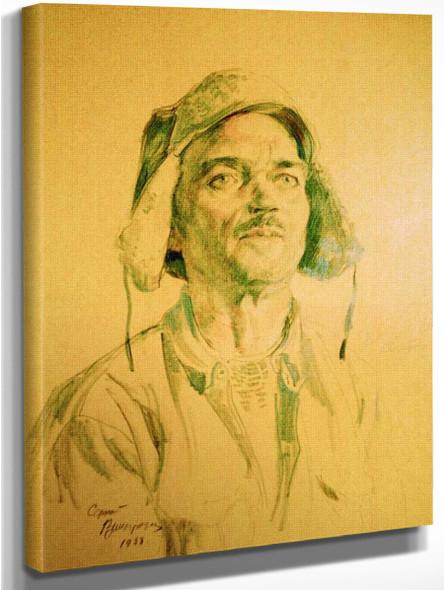 Worker By Sergei Arsenevich Vinogradov Russian 1869 1938