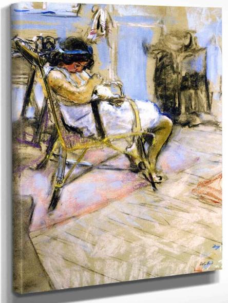 Young Girl In The Studio At Boulevard Malesherbes By Edouard Vuillard