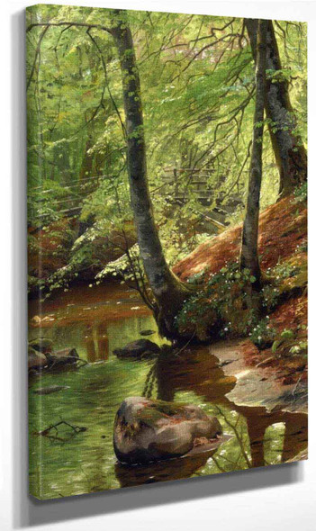 A Forest Stream By Peder Mork Monsted