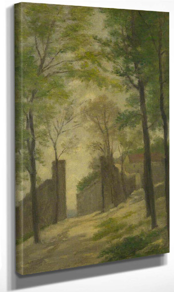 A Gateway Behind Trees By Stanislas Lepine
