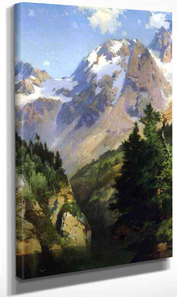 A Rocky Mountain Peak, Idaho Territory By Thomas Moran Art Reproduction