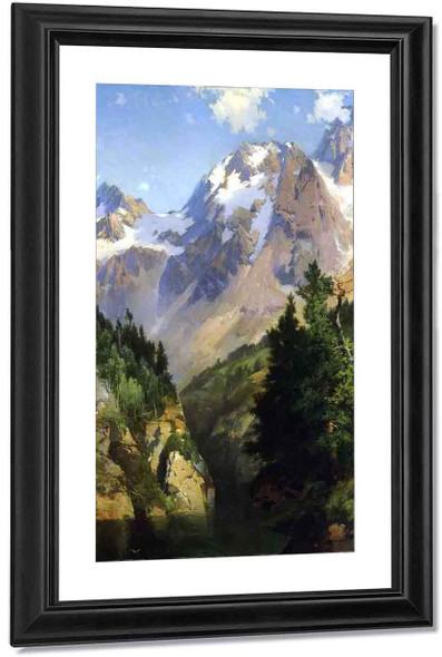 A Rocky Mountain Peak, Idaho Territory By Thomas Moran Art Reproduction