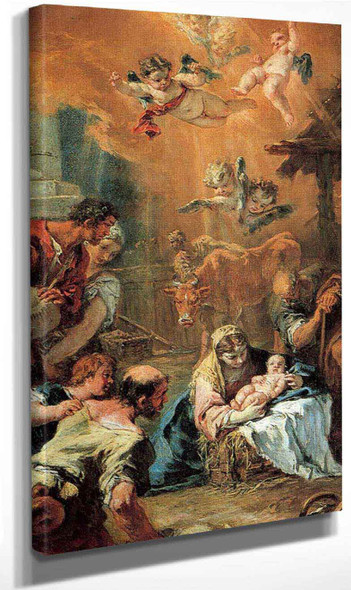 Adoration Of The Shepherds By Sebastiano Ricci