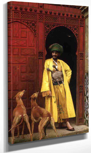 An Arab And His Dogs By Jean Leon Gerome By Jean Leon Gerome