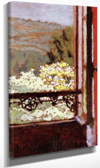 An Open Window Overlooking Flowering Trees By Edouard Vuillard