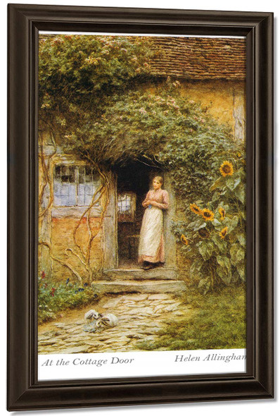 At The Cottage Door By Helen Allingham By Helen Allingham