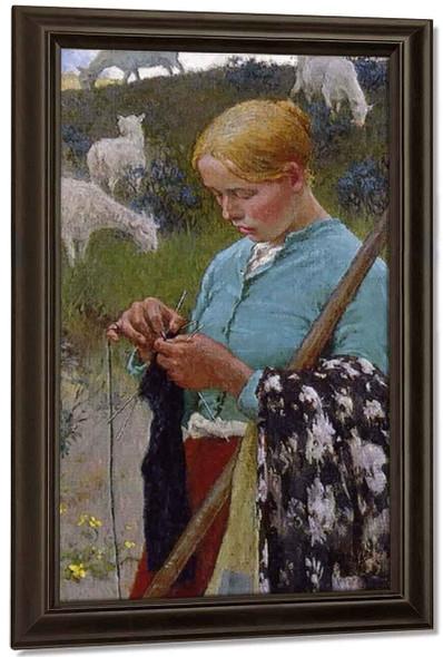 Audrey The Shepherd Lass By Gari Melchers