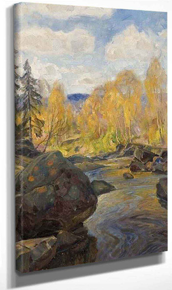 Autumn, Mesna By Thorolf Holmboe Art Reproduction