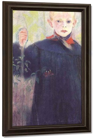 Boy With A Flower By Stanislaw Wyspianski