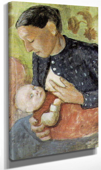 Breast Feeding Mother By Paula Modersohn Becker