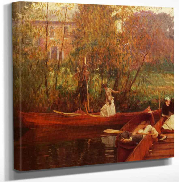 A Boating Party By John Singer Sargent Art Reproduction