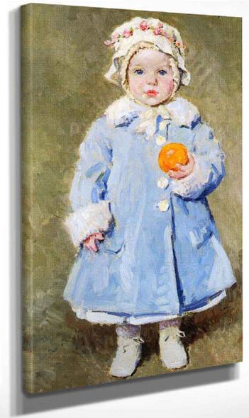 Child With Ann Orange By Gari Melchers