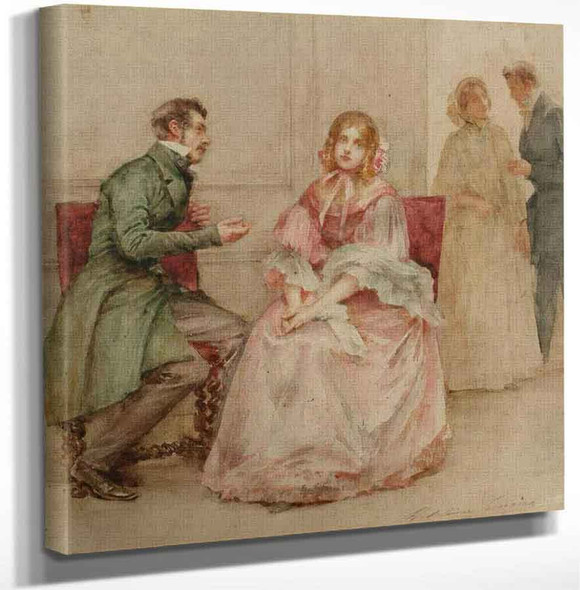 A Gallant Suitor And His Beautiful Lady By Madeleine Jeanne Lemaire Art Reproduction