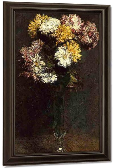 Chrysanthemums 2 By Henri Fantin Latour By Henri Fantin Latour