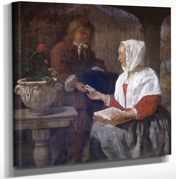 A Girl Receiving A Letter By Gabriel Metsu Art Reproduction