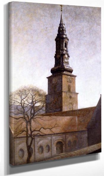 Church Of St. Peter By Vilhelm Hammershoi By Vilhelm Hammershoi