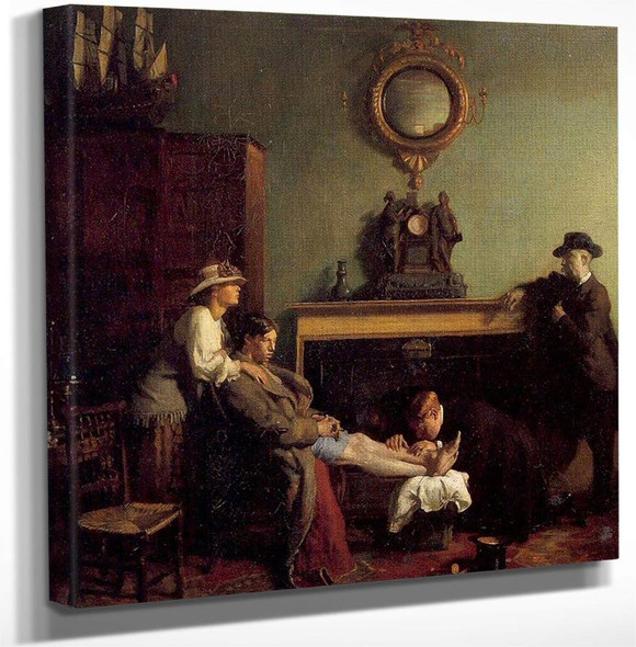 A Mere Fracture By Sir William Orpen Art Reproduction