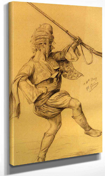 Dancing Bashi Bazouk By Jean Leon Gerome By Jean Leon Gerome