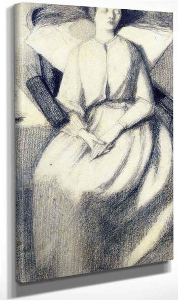 Elizabeth Siddal Seated In A Chair By Dante Gabriel Rossetti