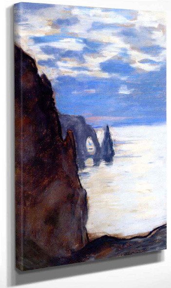 Etretat, The Needle Rock And Porte D'aval By Claude Oscar Monet Art Reproduction
