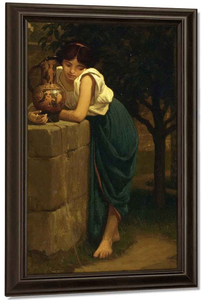 Etruscan Girl With Turtle By Elihu Vedder